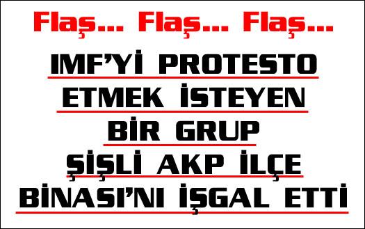 AKP İlçe Binası'nı işgal ettiler