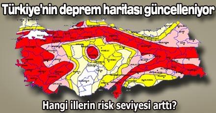 Türkiye'nin deprem haritası güncelleniyor