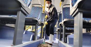 Toplu taşımada grip önlemi