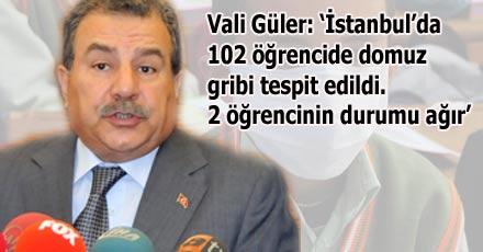 İstanbul'da 102 öğrencide domuz gribi