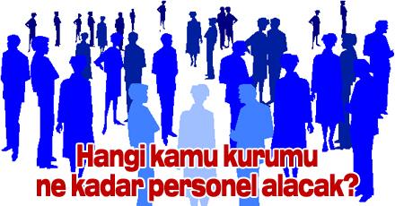 Hangi kamu kurumu ne kadar personel alacak?