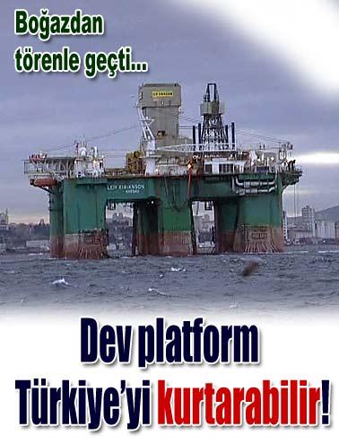 Boğaz'da dev platform!
