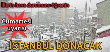 İstanbul için Cumartesi uyarısı
