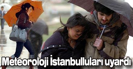 İstanbul için sel uyarısı
