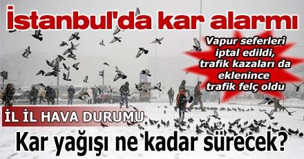 İstanbul'da kar alarmı