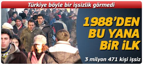 Türkiye böyle bir işsizlik görmedi