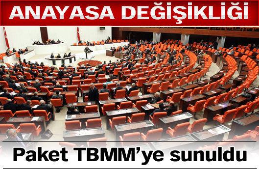 Anayasa değişikliği paketi TBMM'de