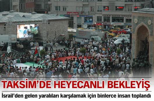 Taksim'de heyecanlı bekleyiş