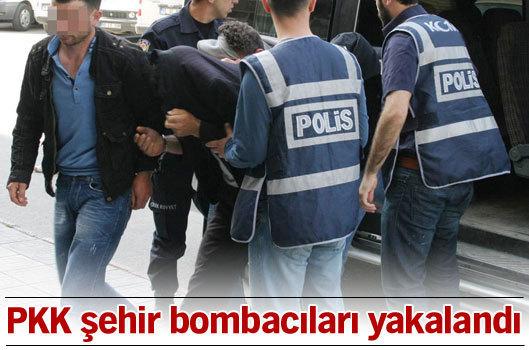 PKK şehir bombacıları yakalandı