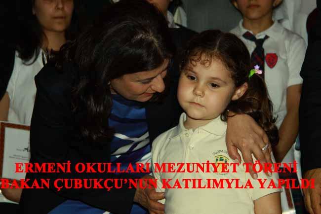 Bakan ÇUBUKÇU Ermeni Okulları Mezuniyet Töreninde