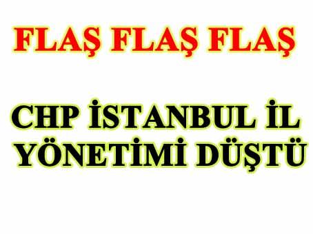 CHP İstanbul İl Yönetimi, 12 üyenin istifası sonrası düştü.