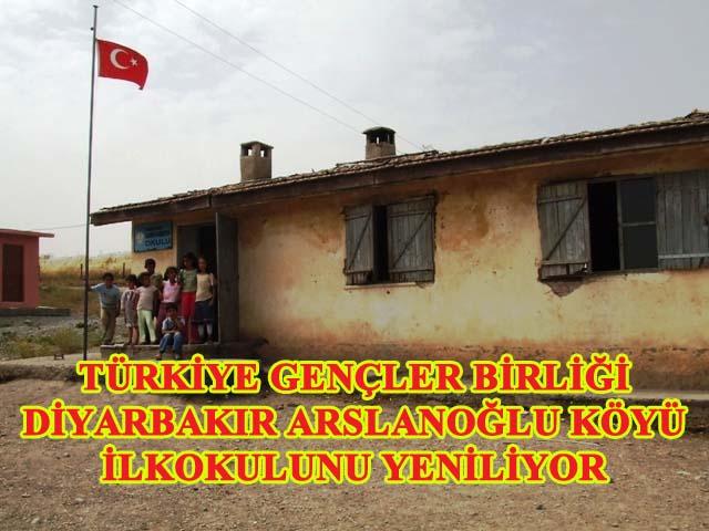 TGB Diyarbakır Arslanoğlu köyüne okul yapıyor
