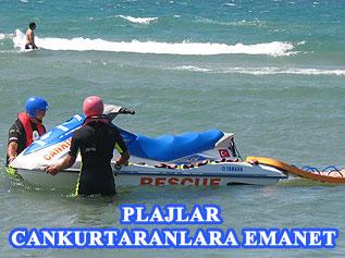 İstanbul Büyükşehir Belediyesi,  plajlarda yaşanan boğulma vakalarına karşı halka cankurtaran hizmeti veriyor.