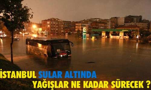 İstanbul'a beklenen yağmur geldi