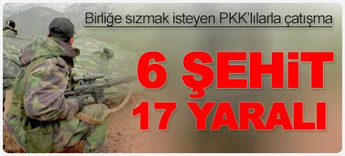 Çukurca'da karakola saldırı: 6 asker Şehit