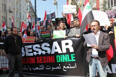 Suriye Başkonsolosluğu Önünde Protesto