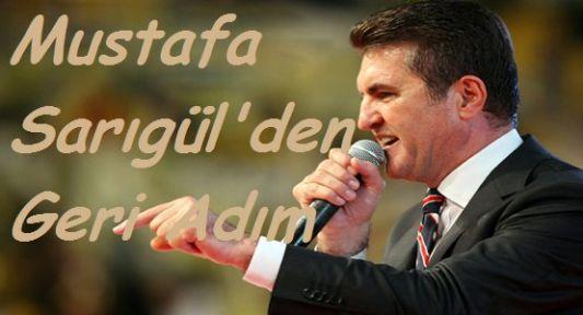 Mustafa Sarıgül'den Geri Adım