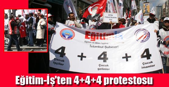 Eğitim-İş'ten 4+4+4 protestosu