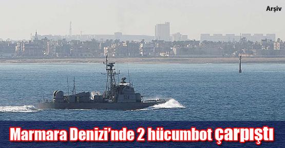 Marmara Denizi'nde 2 hücumbot çarpıştı