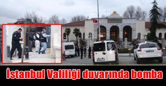 İstanbul Valiliği duvarında bomba