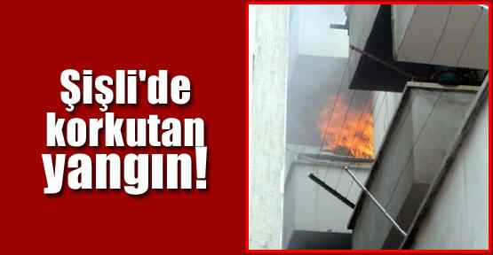 Şişli'de Korkutan Yangın!