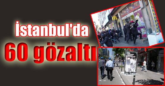 İstanbul'da '1 Mayıs' Operasyonu: 60 Gözaltı