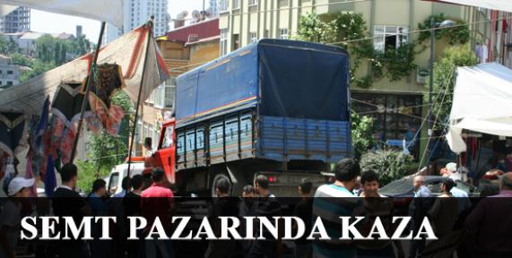 Şişli'de pazar yerinde kaza