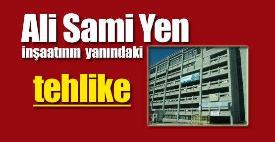 Ali Sami Yen inşaatının yanındaki tehlike
