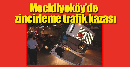 Mecidiyeköy'de zincirleme trafik kazası