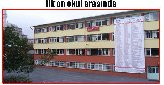 Şişli Anadolu ilk on okul  arasında