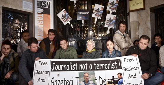 Suriye Konsolosluğu önünde eylem