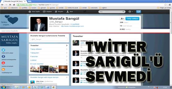 Twitter, Sarıgül'ü sevmedi