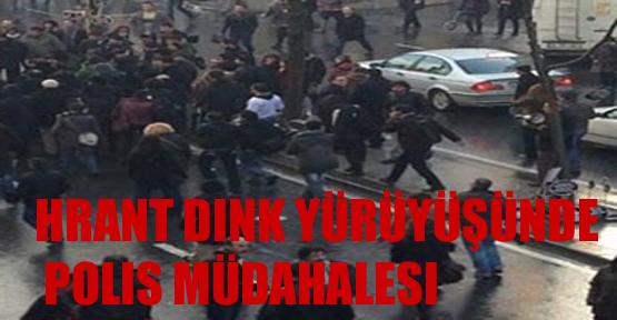 Hrant Dink yürüyüşünde polis müdahalesi