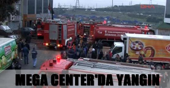 Mega Center'da yangın