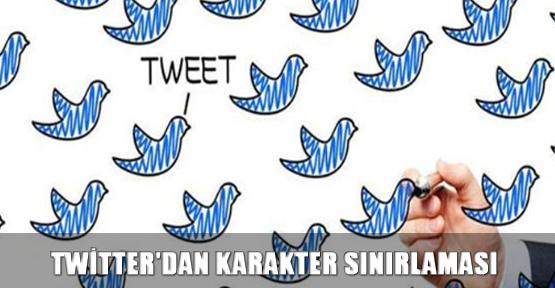 Twitter'dan karakter sınırlaması