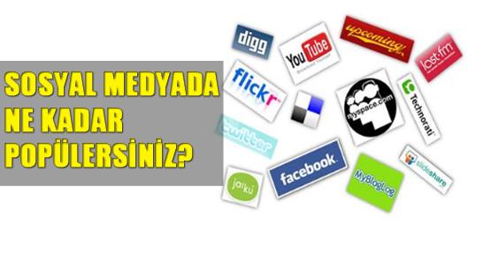 Sosyal medyada ne kadar popülersiniz?