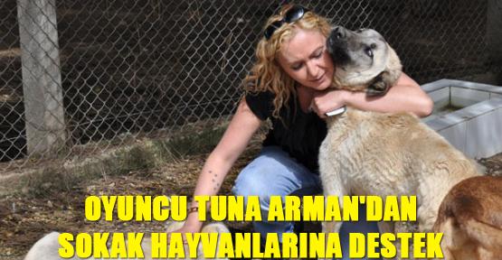 Oyuncu Tuna Arman'dan Sokak Hayvanlarına Destek