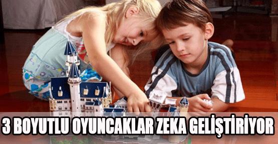 Üç boyutlu oyuncaklar çocukların zekasını geliştiriyor