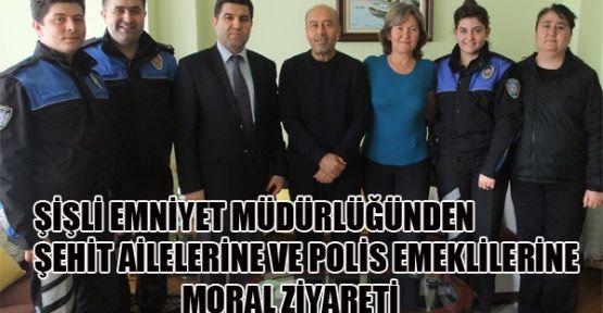 Şişli İlçe Emniyet Müdürlüğü Şehit Ailelerini ve Polis emeklilerini unutmadı