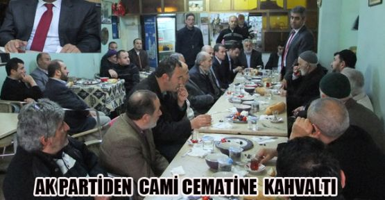 Ak Parti Sarıyer İlçe Başkanlığından Cami cemaatinle kahvaltlı toplantıı