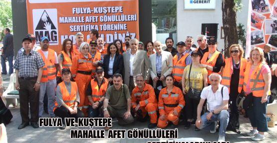 Fulya ve Kuştepe Mahalle Afet Gönüllüleri sertifikalarını aldı