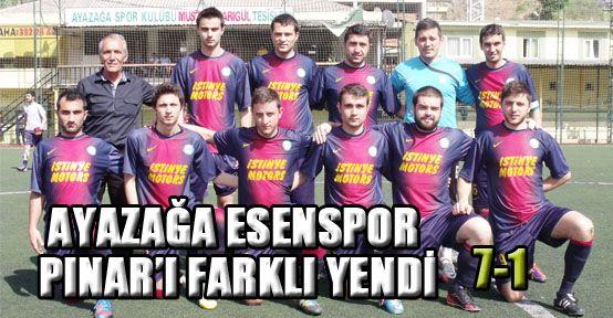 Ayazağa Esenspor Pınar'ı farklı yendi: 7-1