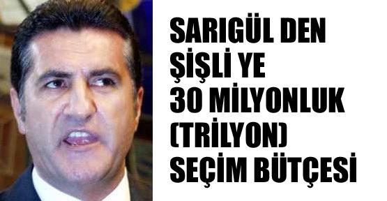 Sarıgül'den Şişli'ye 30 milyonluk bütçe