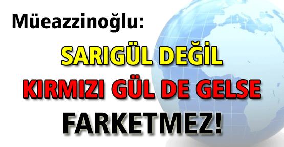 """Müezzinoğlu: """"Sarıgül değil kırmızı gül de gelse fark etmez"""""""
