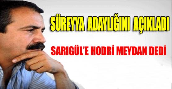 Sırrı Sürreyya Önder İstanbul İçin Adaylığını Açıkladı.