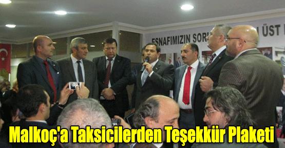 Kenan Malkoç'a Taksicilerden Teşekkür Plaketi