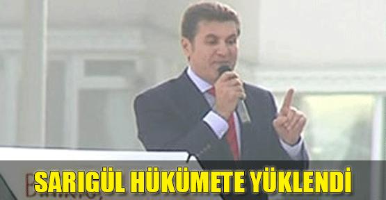 Mustafa Sarıgül hükümete yüklendi!
