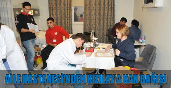 Aile Hastanesi çalışanları Kızılay'a kan bağışladı