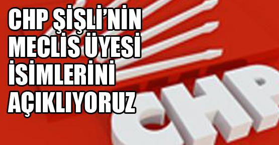 CHP'nin Şişli Meclis Üyesi listesini yayınlıyoruz