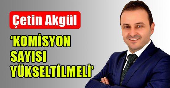 Çetin Akgül: 'Şişli'de komisyon sayısı yükseltilmeli'